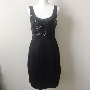 DKNYC Black Sequin Top Dress With Pockets